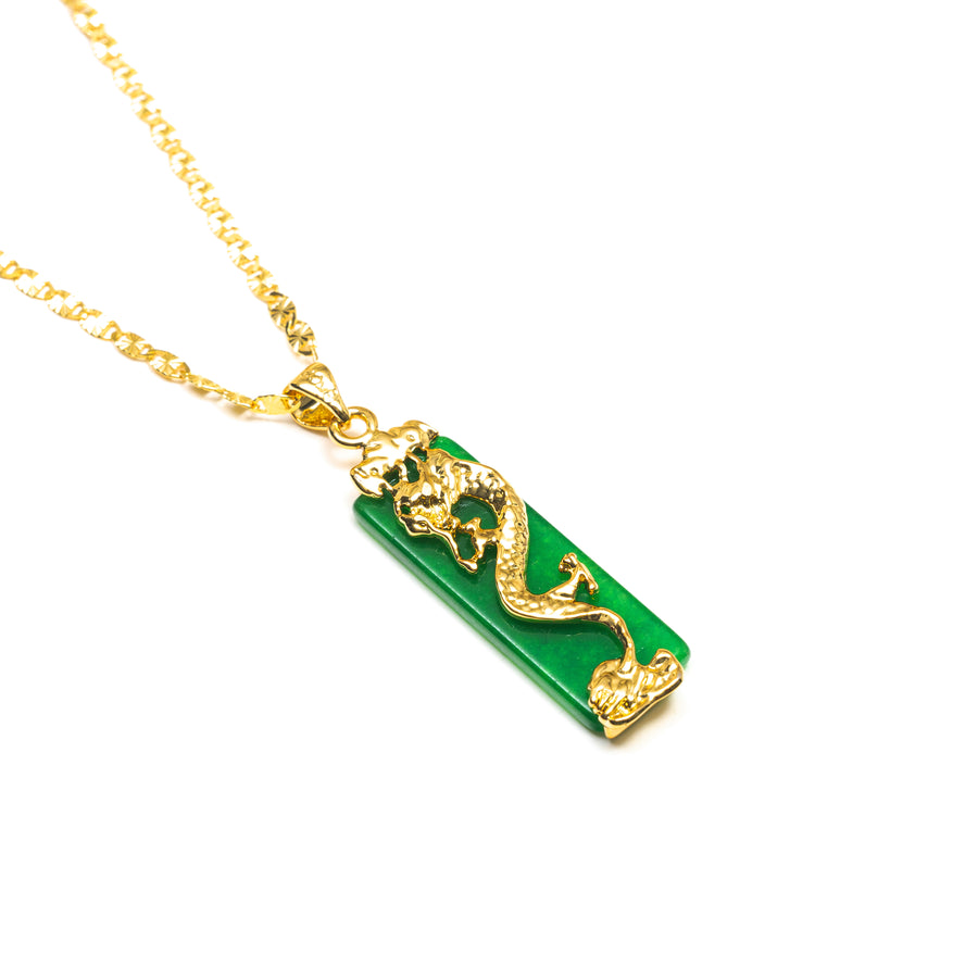 EMERALD DRAGON NECKLACE