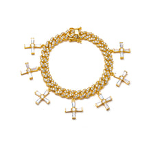Load image into Gallery viewer, ICY CROSS CUBAN LINK BRACELET