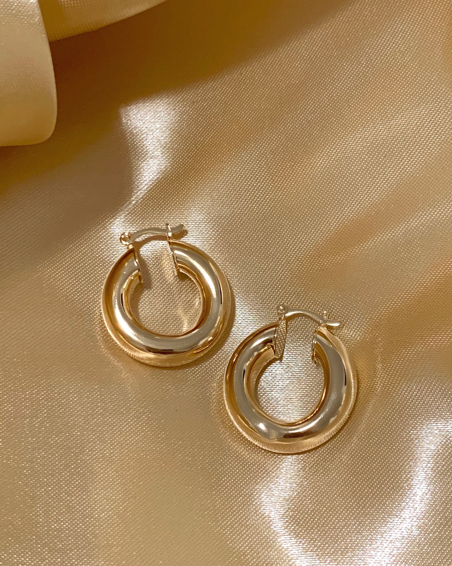 MINI LAURENT GOLD HOOPS