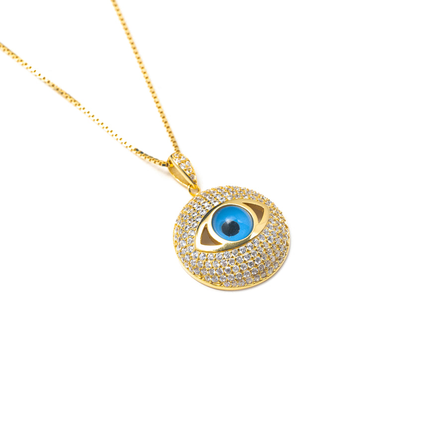 ICY EVIL EYE NECKLACE
