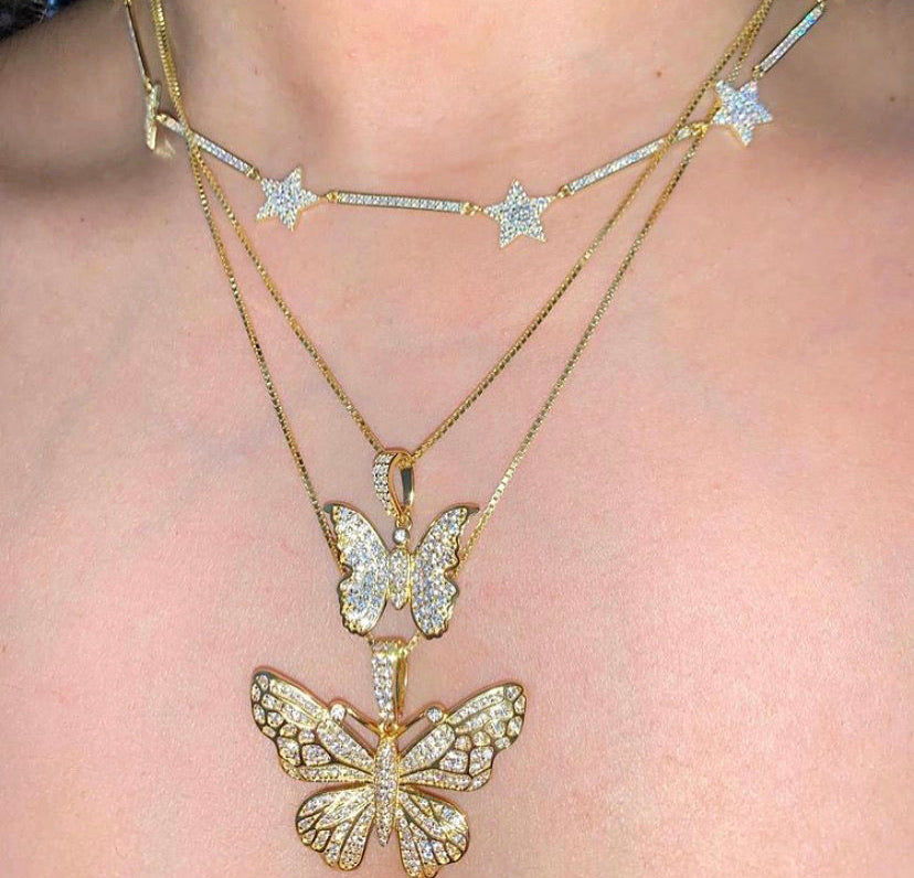 MINI POSEY BUTTERFLY NECKLACE