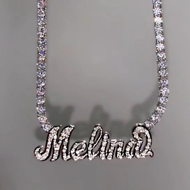 ICY NAMEPLATE NECKLACE