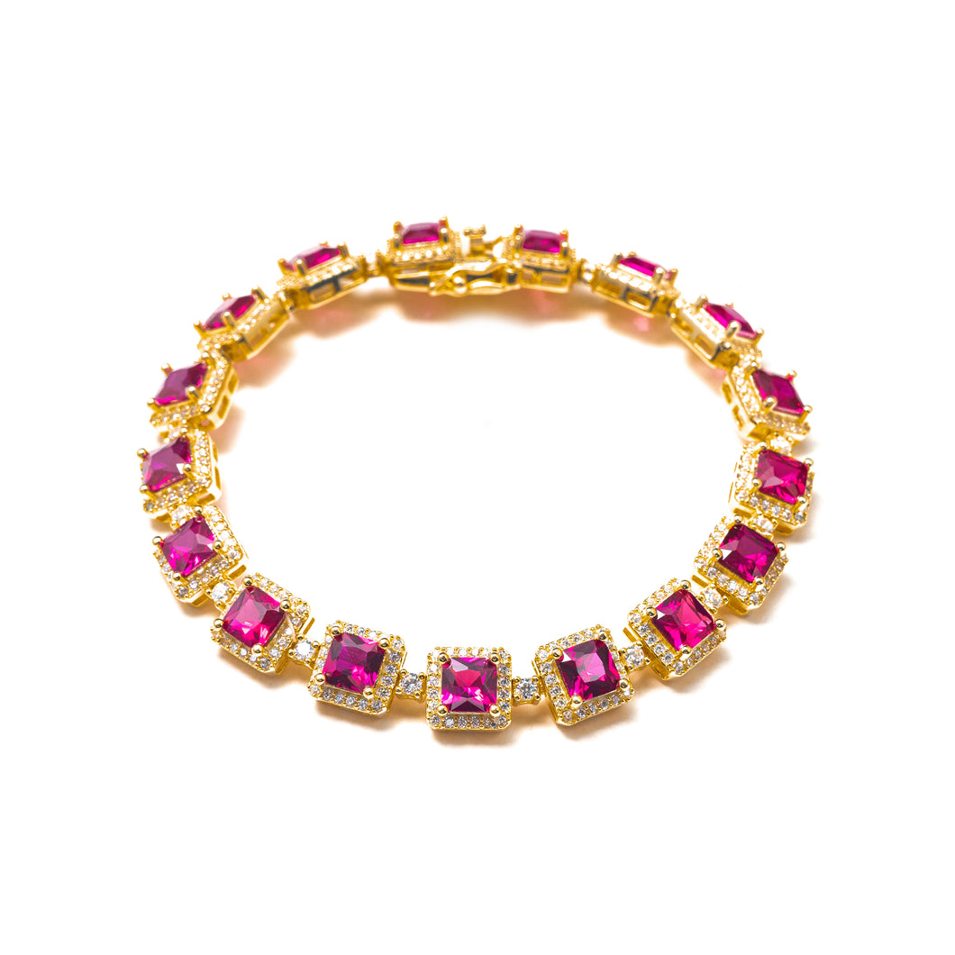 WISHLIST BRACELET IN MAGENTA