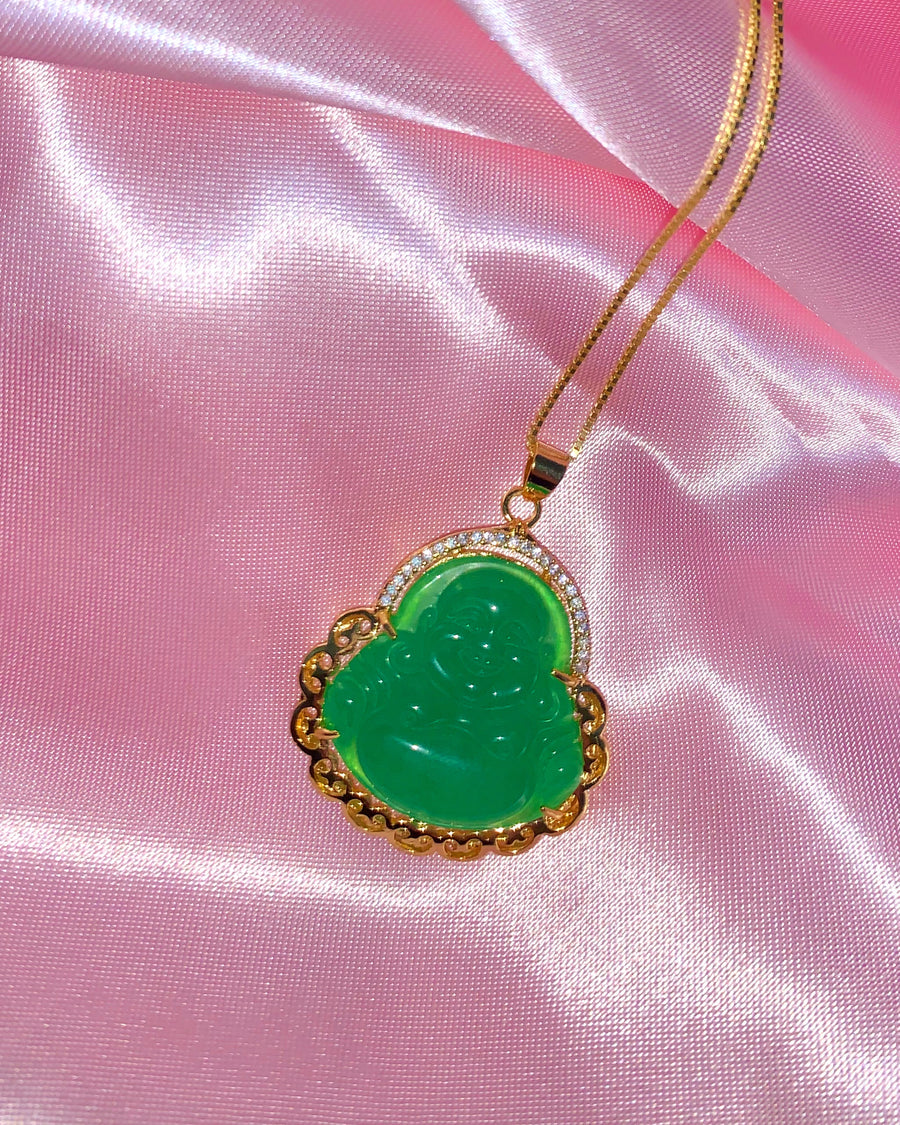 JADE BUDDHA III NECKLACE