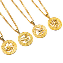 Load image into Gallery viewer, ZODIAC MEDALLION NECKLACE