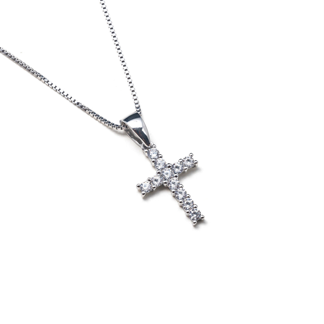 SILVER CRUZ NECKLACE