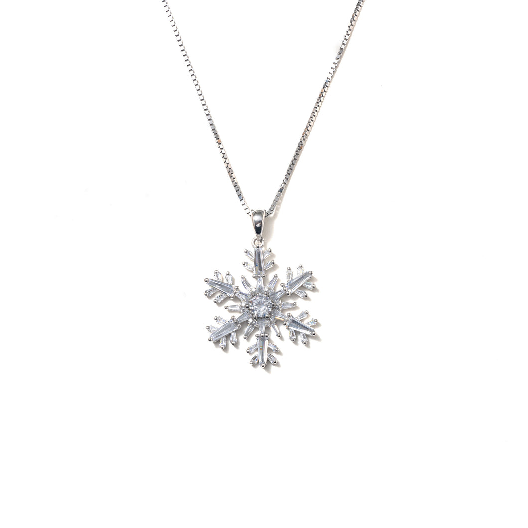 FROSTED SNOWFLAKE NECKLACE