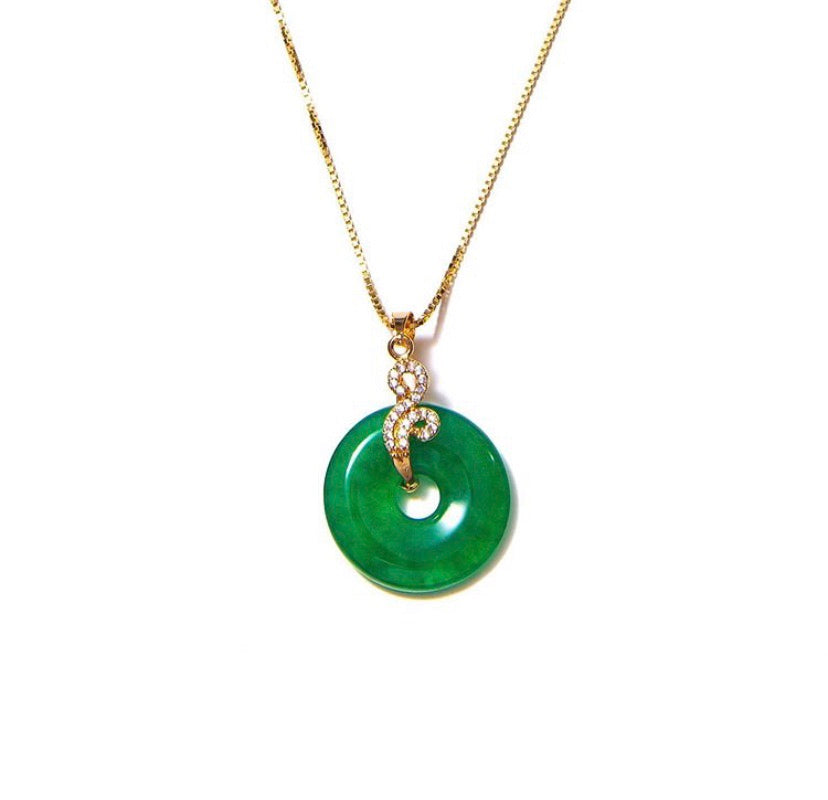 SWIRLY EMERALD NECKLACE