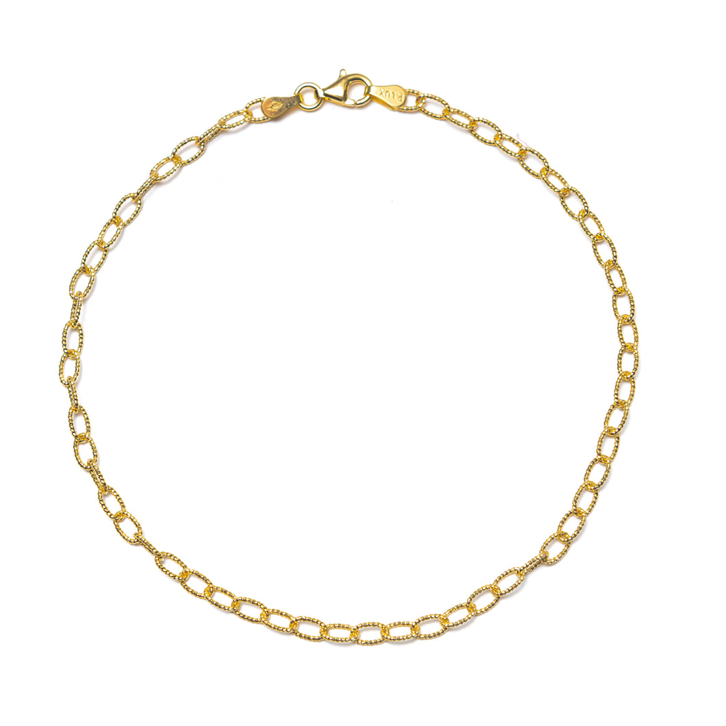 DAINTY CURB LINK ANKLET