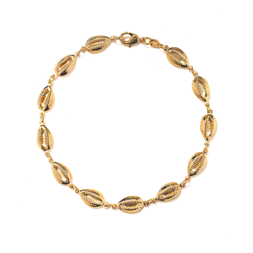 GOLDEN SHELL ANKLET