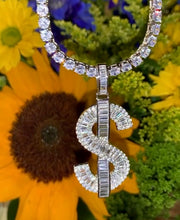 Load image into Gallery viewer, ICY DOLLAR SIGN NECKLACE