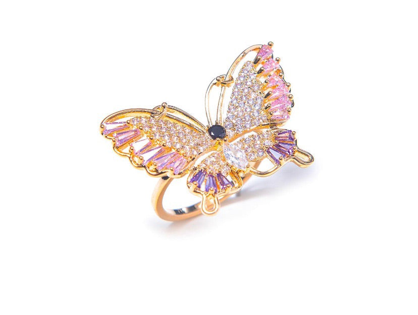 SHAYLA BUTTERFLY RING.