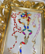 Load image into Gallery viewer, RUBY ROSARY NECKLACE