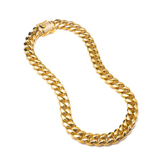 Load image into Gallery viewer, CHUNKY SOLID CUBAN LINK NECKLACE