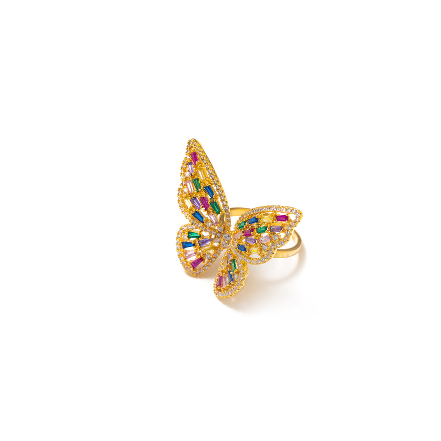 BUTTERFLY QUEEN MULTICOLOR RING