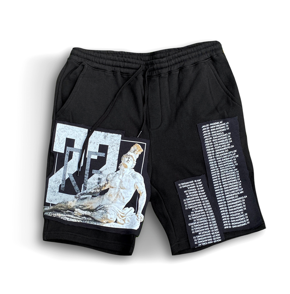 LE Achilles Patch Work Shorts