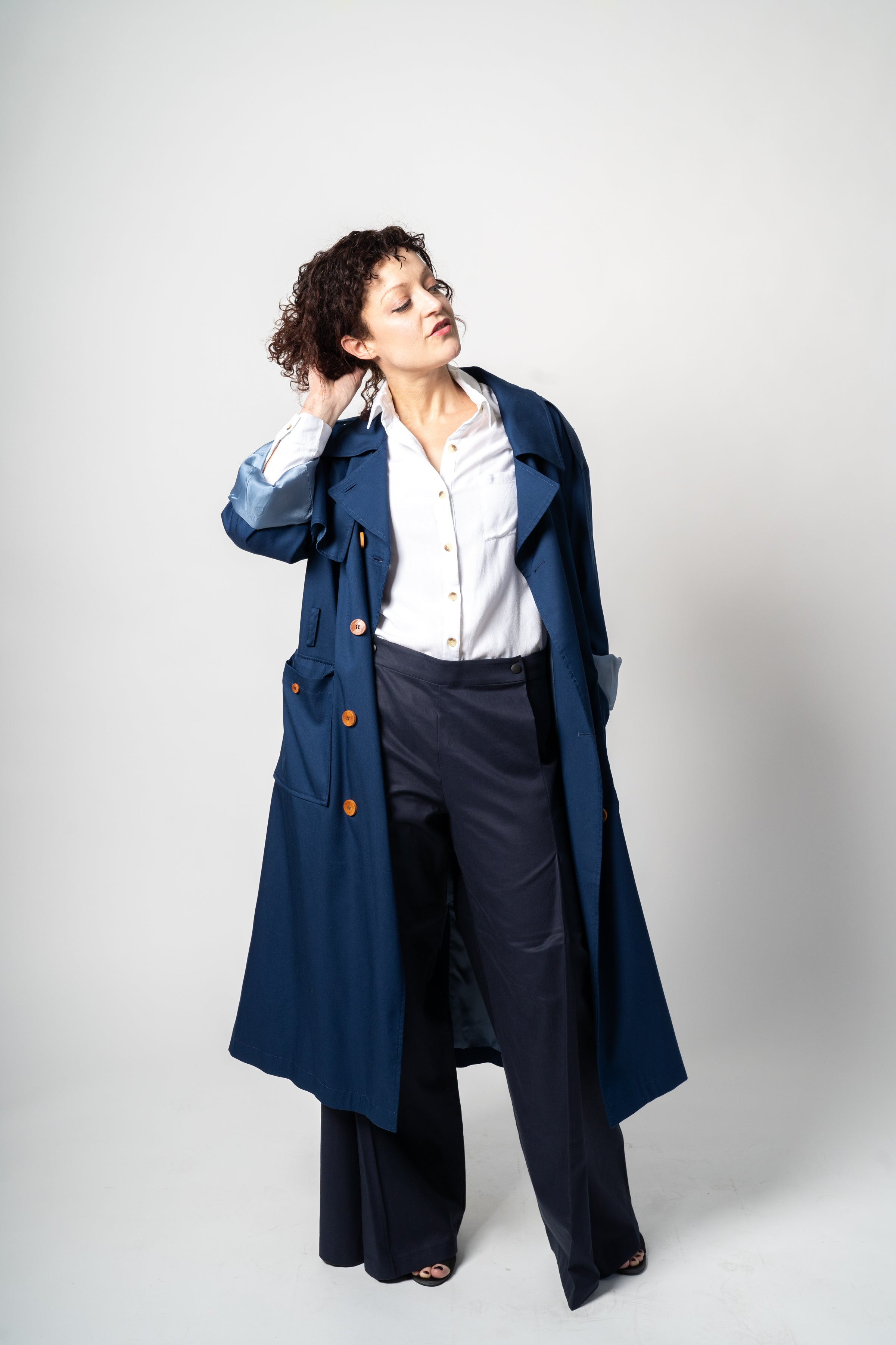 The Slouchy Trench - Cobalt