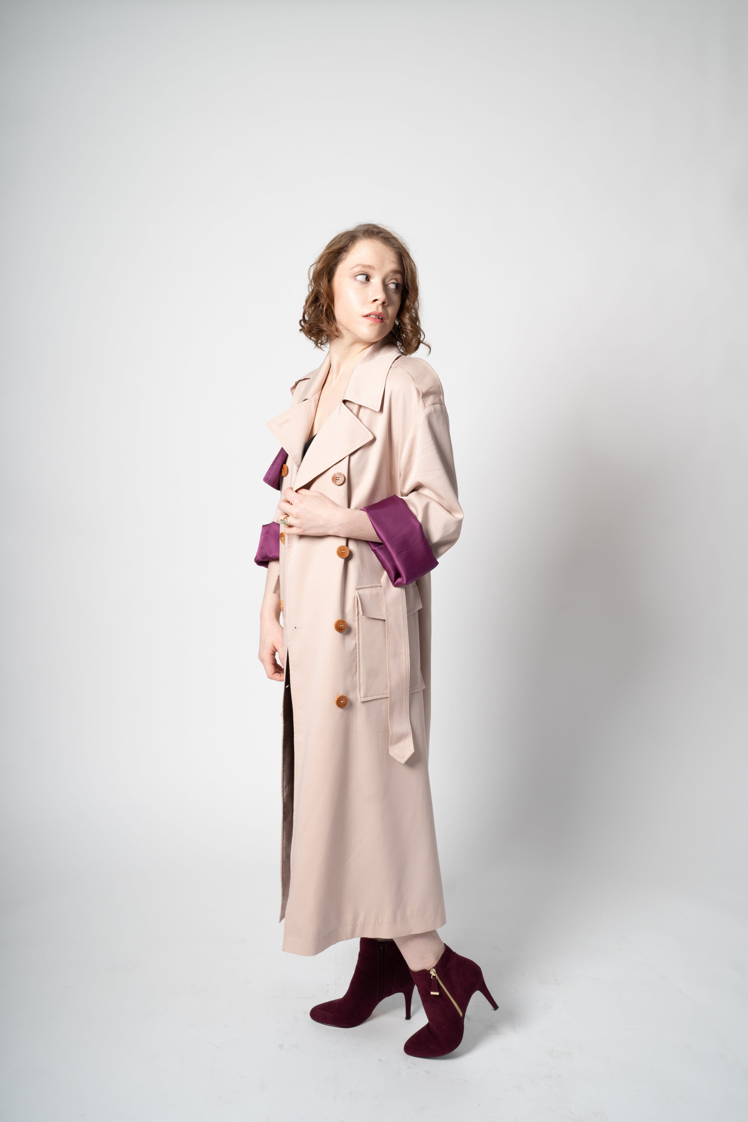 The Slouchy Trench - Petal