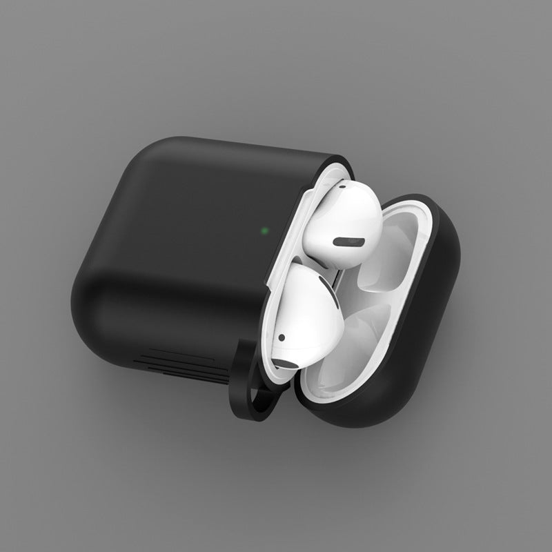 AirPods Black Silicone Protective Case Cover