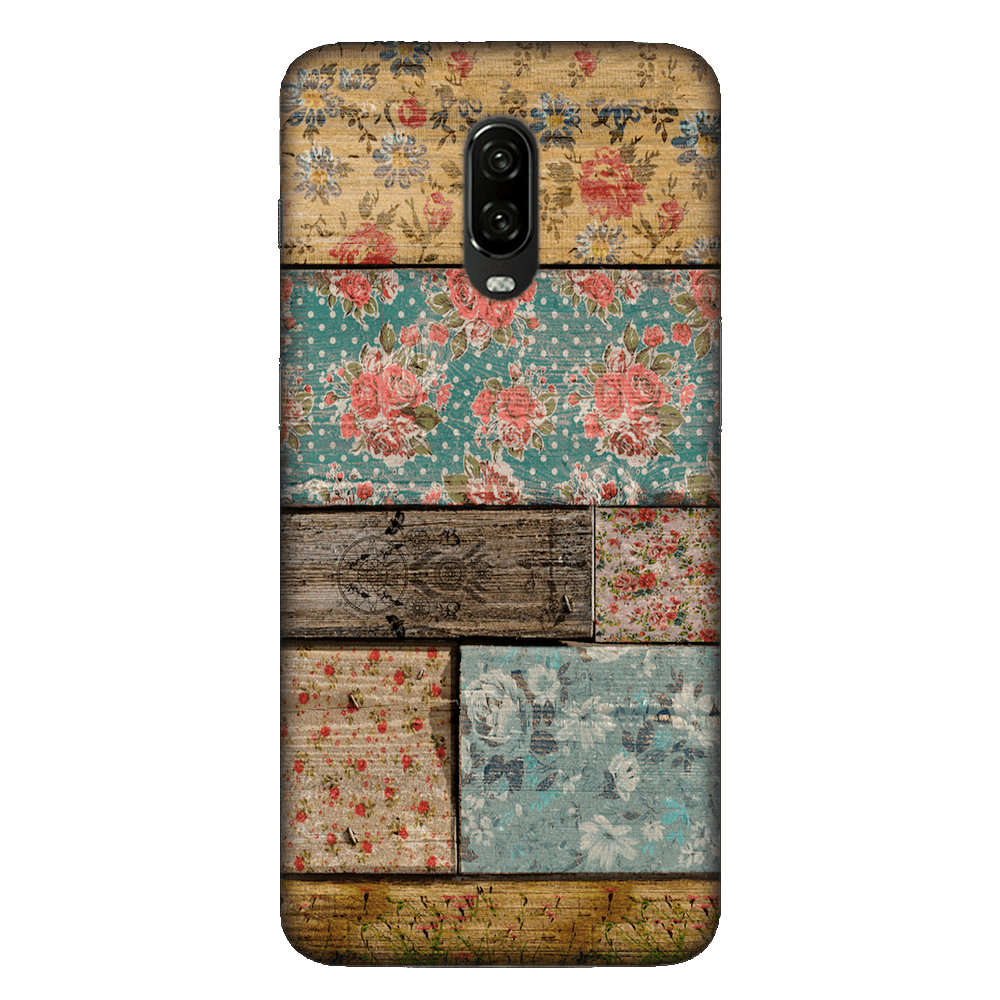 Floral Design Case Cover - OnePlus 6T - CASE U