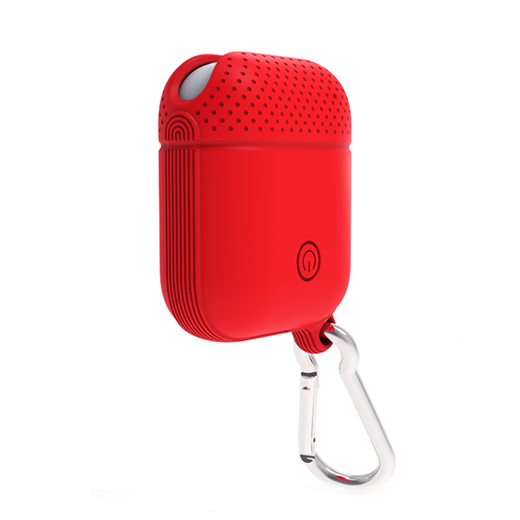 AirPods Red Silicone Protective Case Cover (Dotted)