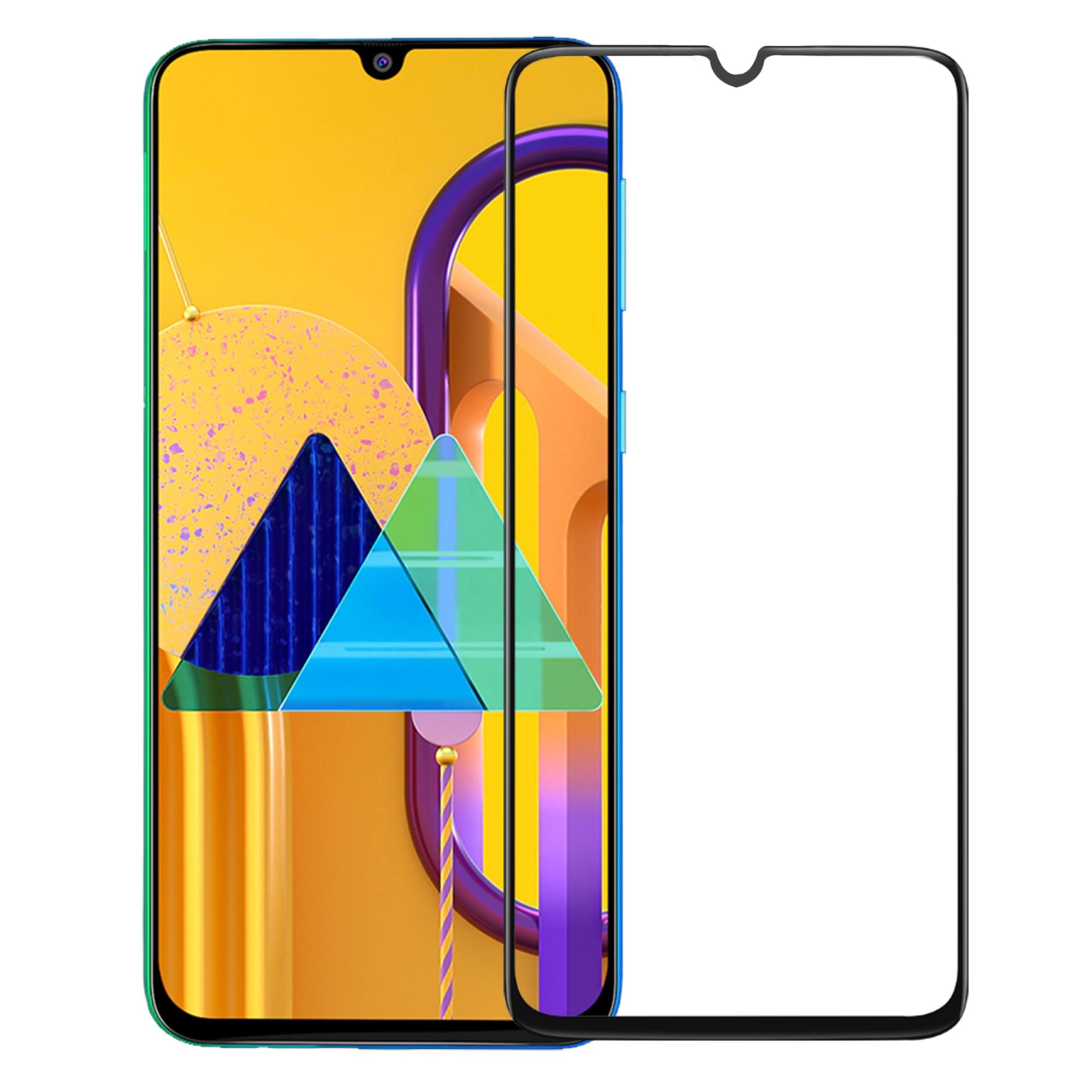 Edge to Edge Full Screen Coverage Screen-Protector with easy installation kit (Samsung M30/M30s)
