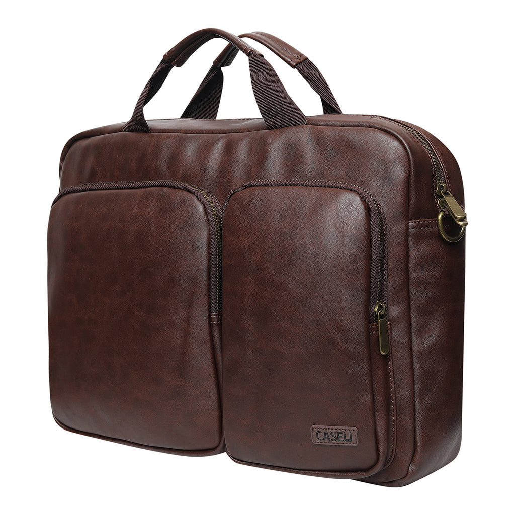 15.6 inch Laptop Leather Messenger Bag (MA016T) - CASE U