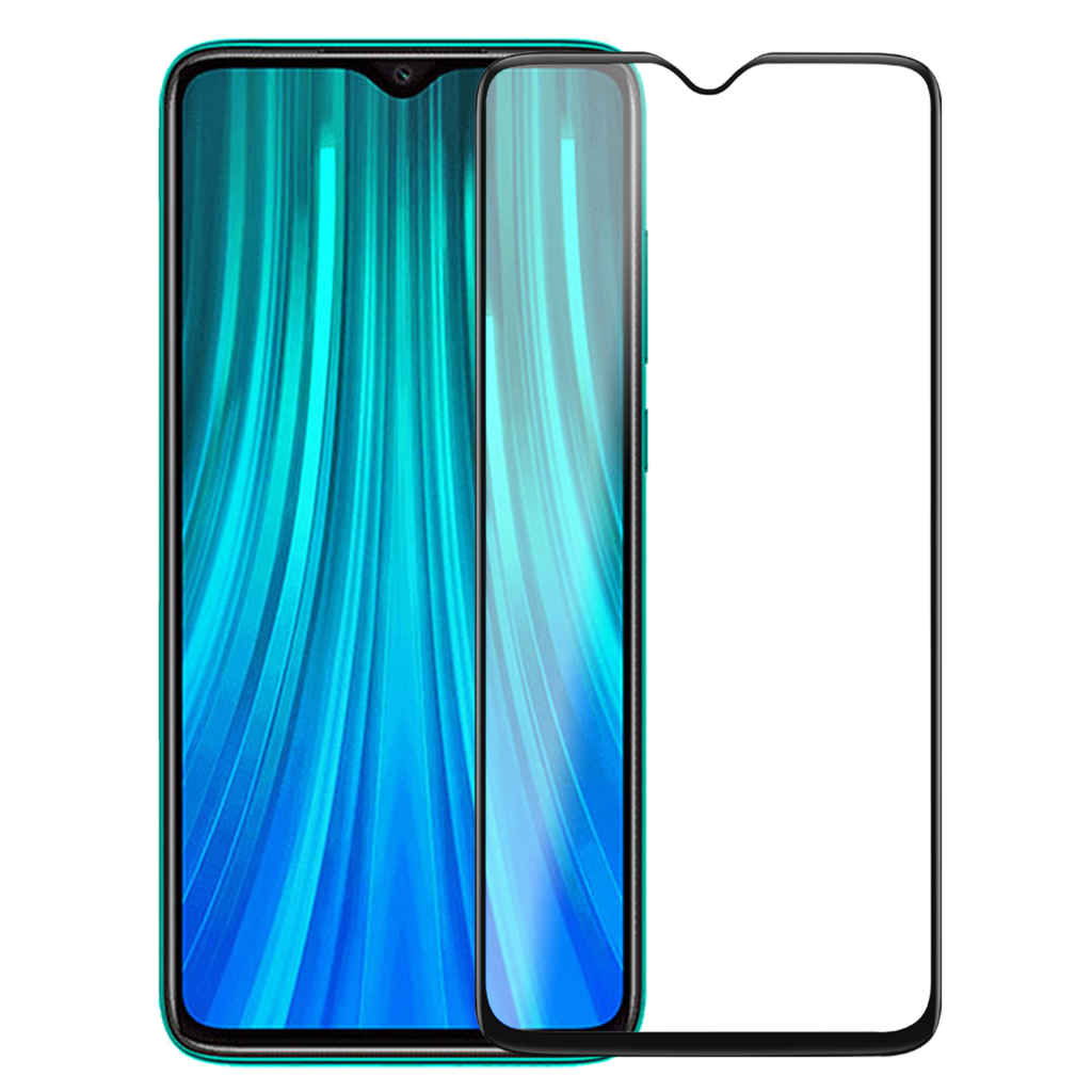 Black Shield Premium Tempered Glass - Redmi Note 8 Pro - CASE U