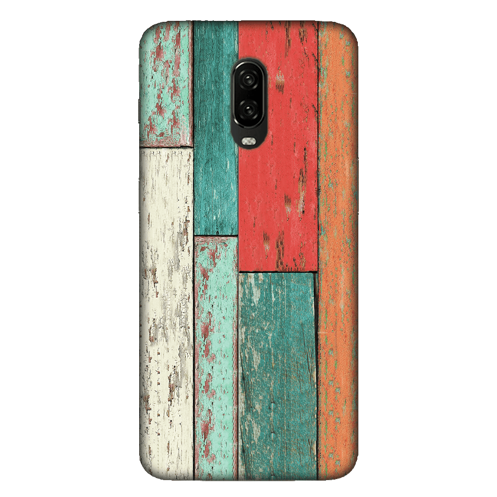 Vertical Wood Panels Multicolored Case Cover - OnePlus 6T - CASE U