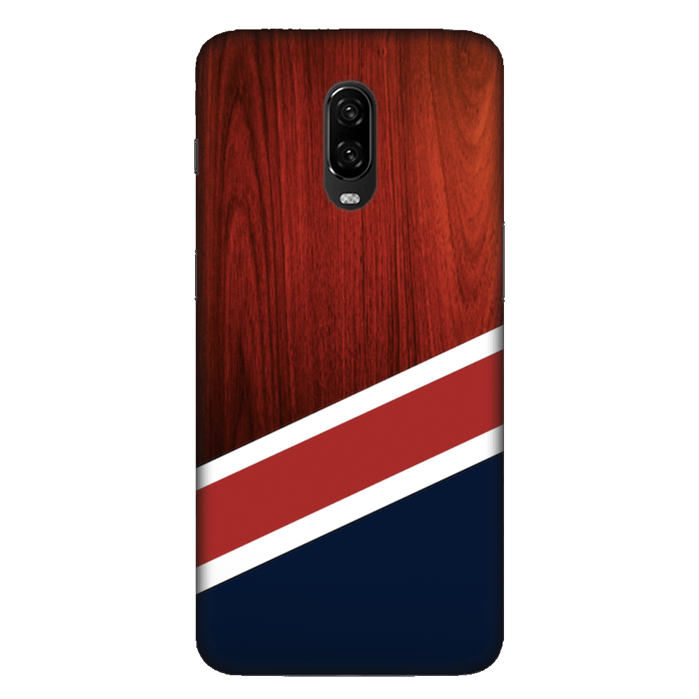 Navy Wood Case Cover - OnePlus 6T - CASE U