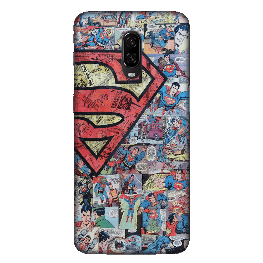 Superman Comic Case Cover - OnePlus 6T - CASE U