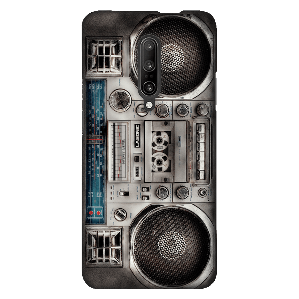 Retro 80s Boombox White Case Cover - OnePlus 7 Pro - CASE U