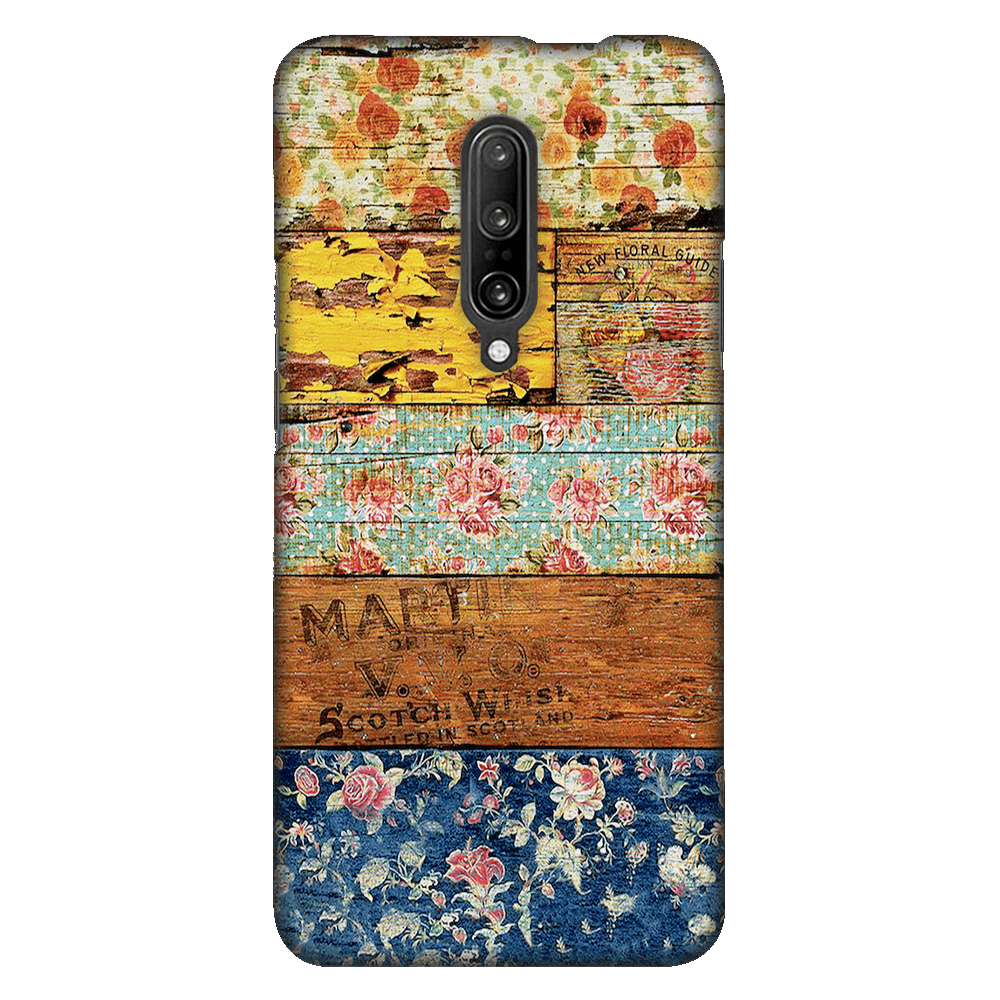 Wooden Worn Patterned Case Cover - OnePlus 7 Pro - CASE U