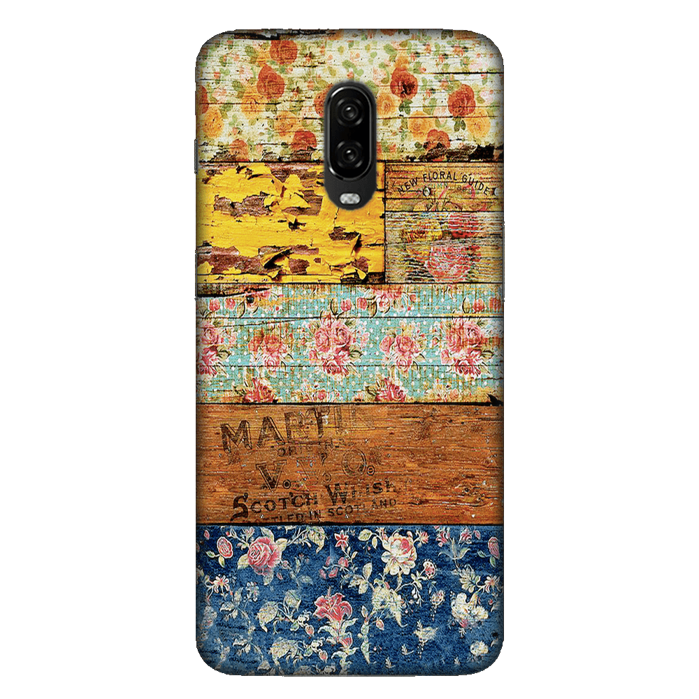Wooden Worn Patterned Case Cover - OnePlus 6T - CASE U