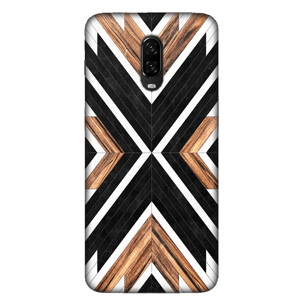 Geometric Wood Art Case Cover - OnePlus 6T - CASE U