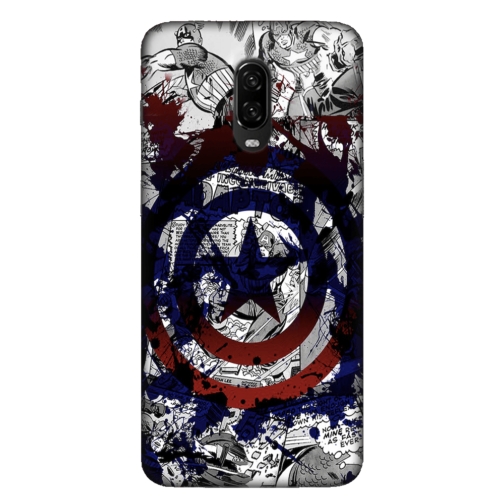 Captain America Splash Out Shield Case Cover - OnePlus 6T - CASE U