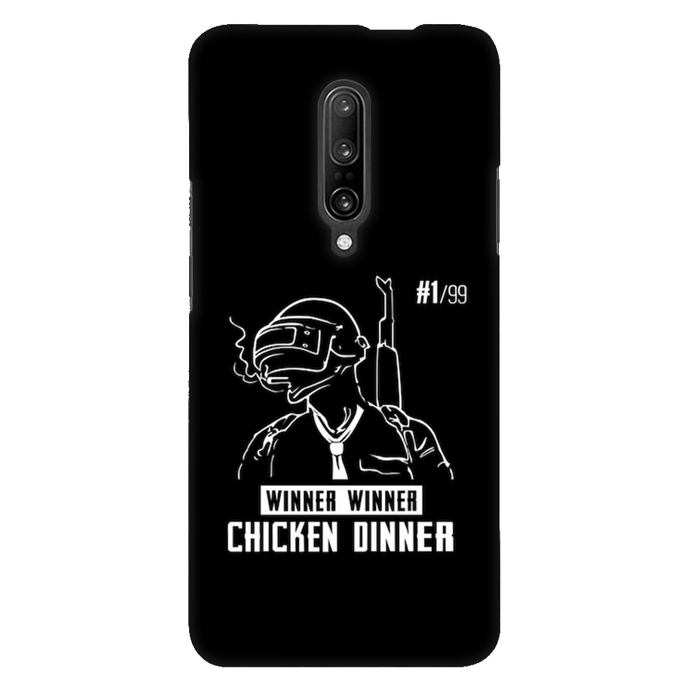 PUBG Winner Winner Chicken Dinner Black Case Cover - OnePlus 7 Pro - CASE U