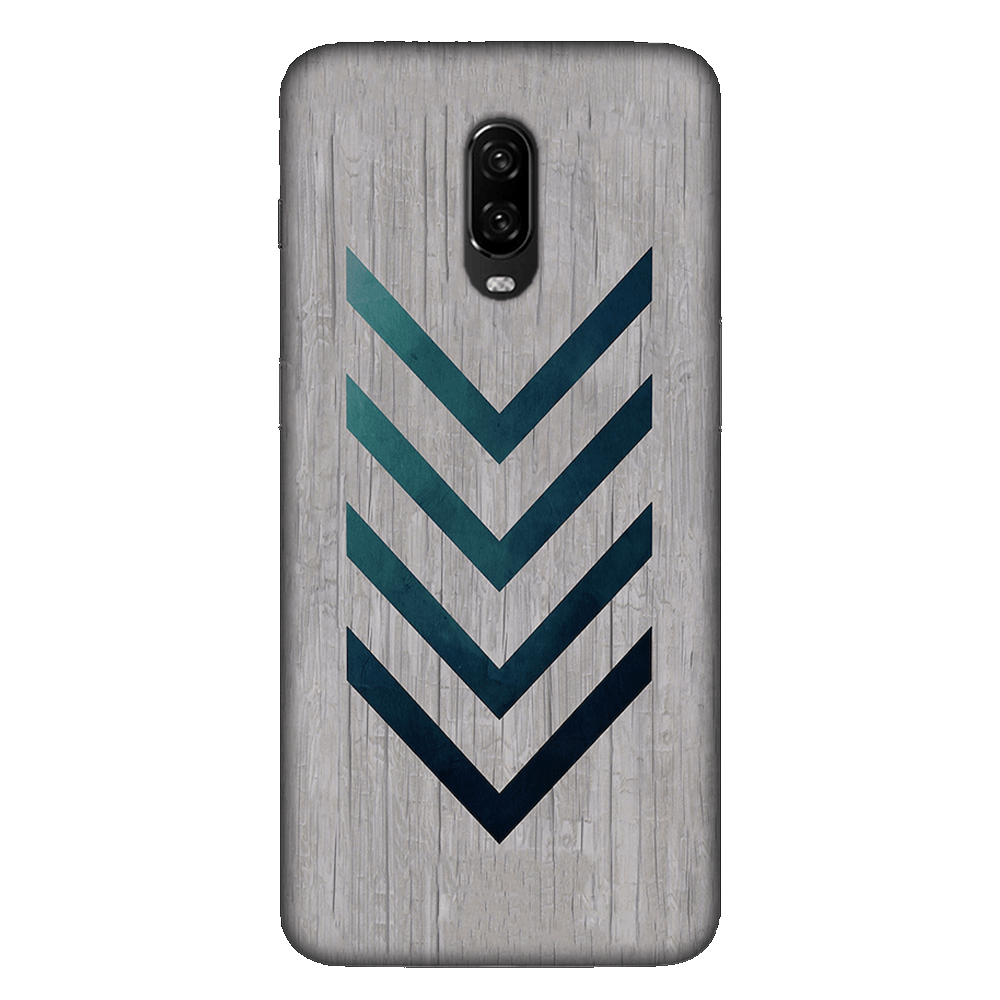 Blue Striped Arrow Case Cover - OnePlus 6T - CASE U