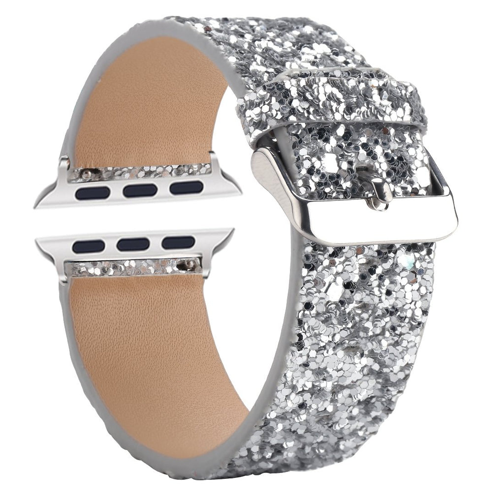 Sparkly 3D Glitter Leather Strap for iWatch - CASE U