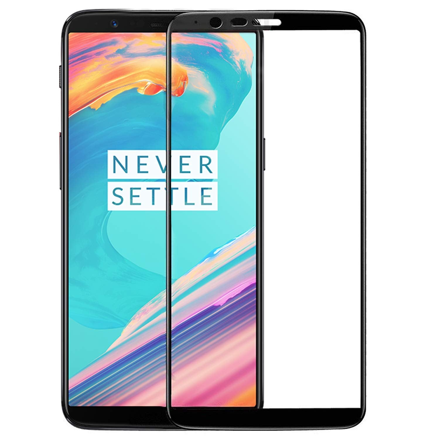 Edge to Edge Full Screen Coverage Screen-Protector with easy installation kit (OnePlus 5T)