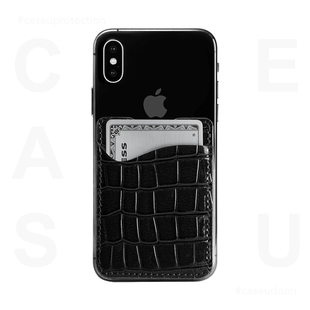 Black Croco Wander Wallet For Phone