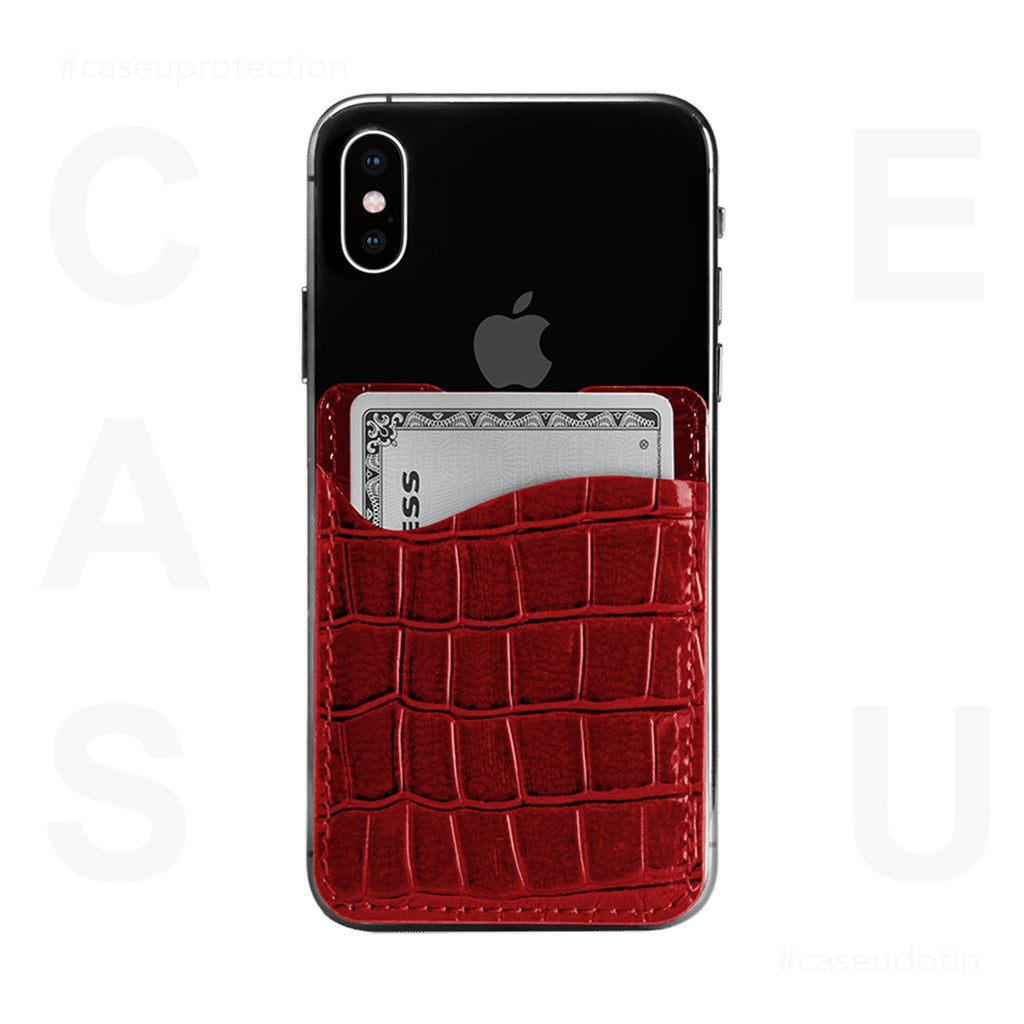 Red Croco Wander Wallet For Phone