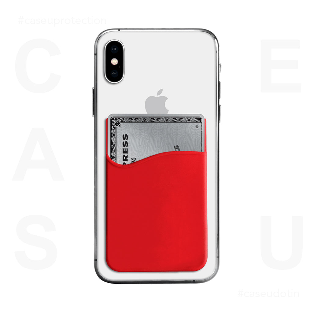 Red Silicone Wander Wallet For Phone
