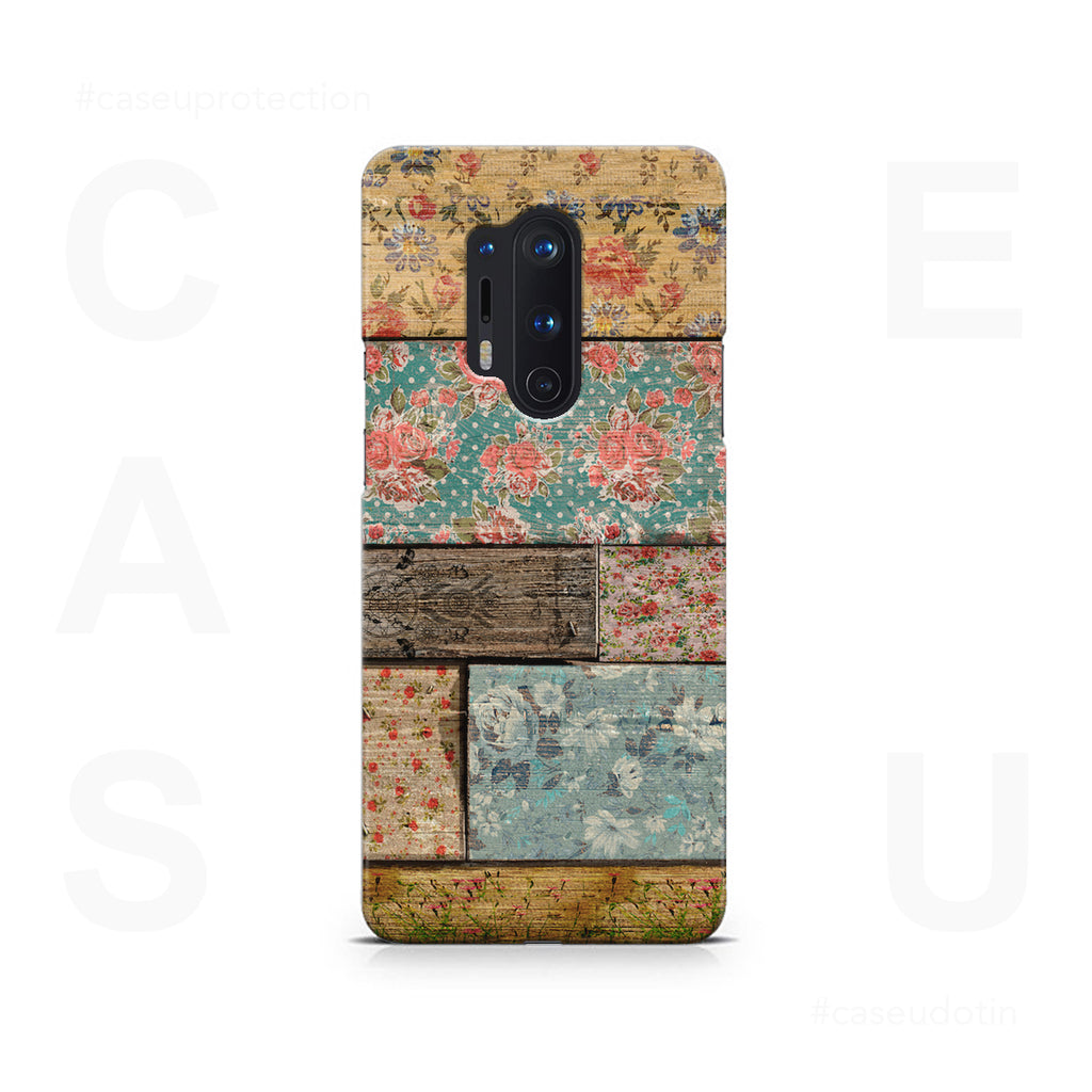 Floral Design Case Cover - OnePlus 8 Pro