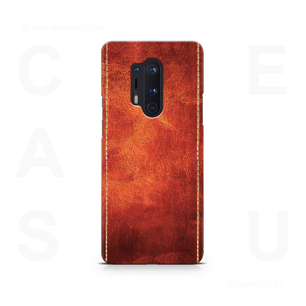 Dual Stitched Leather Case Cover - OnePlus 8 Pro