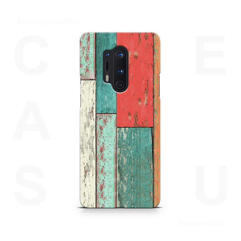 Vertical Wood Panels Multicolored Case Cover - OnePlus 8 Pro