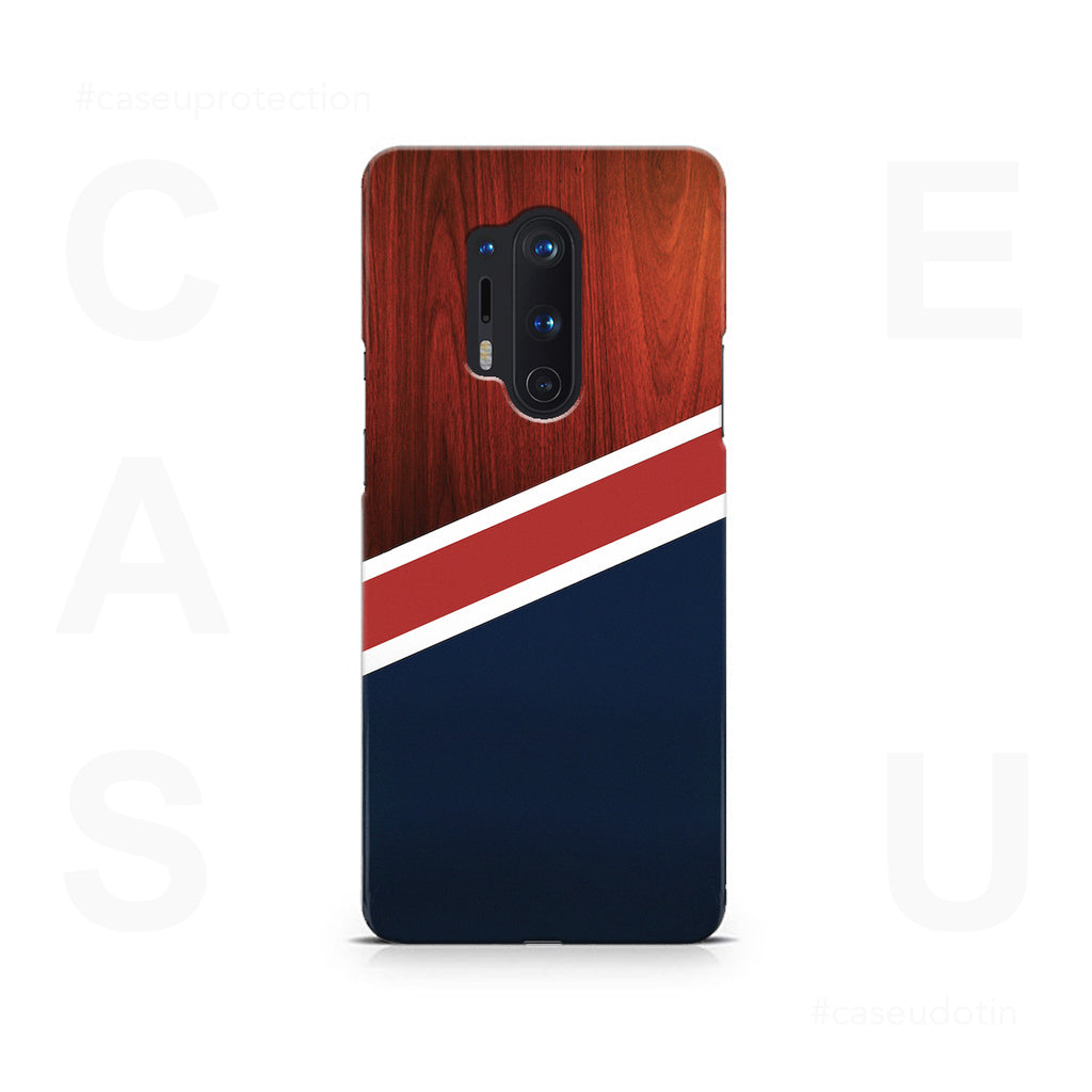 Navy Wood Case Cover - OnePlus 8 Pro