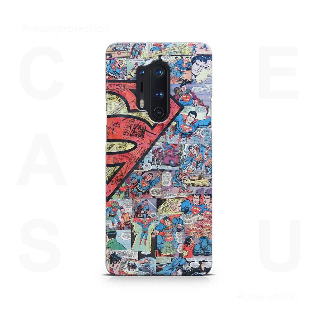 Superman Comic Case Cover - OnePlus 8 Pro