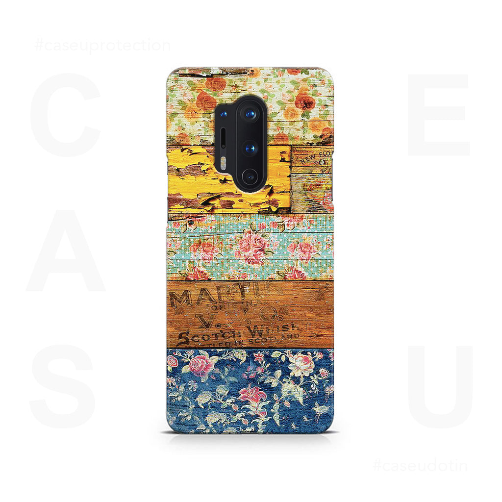 Wooden Worn Patterned Case Cover - OnePlus 8 Pro