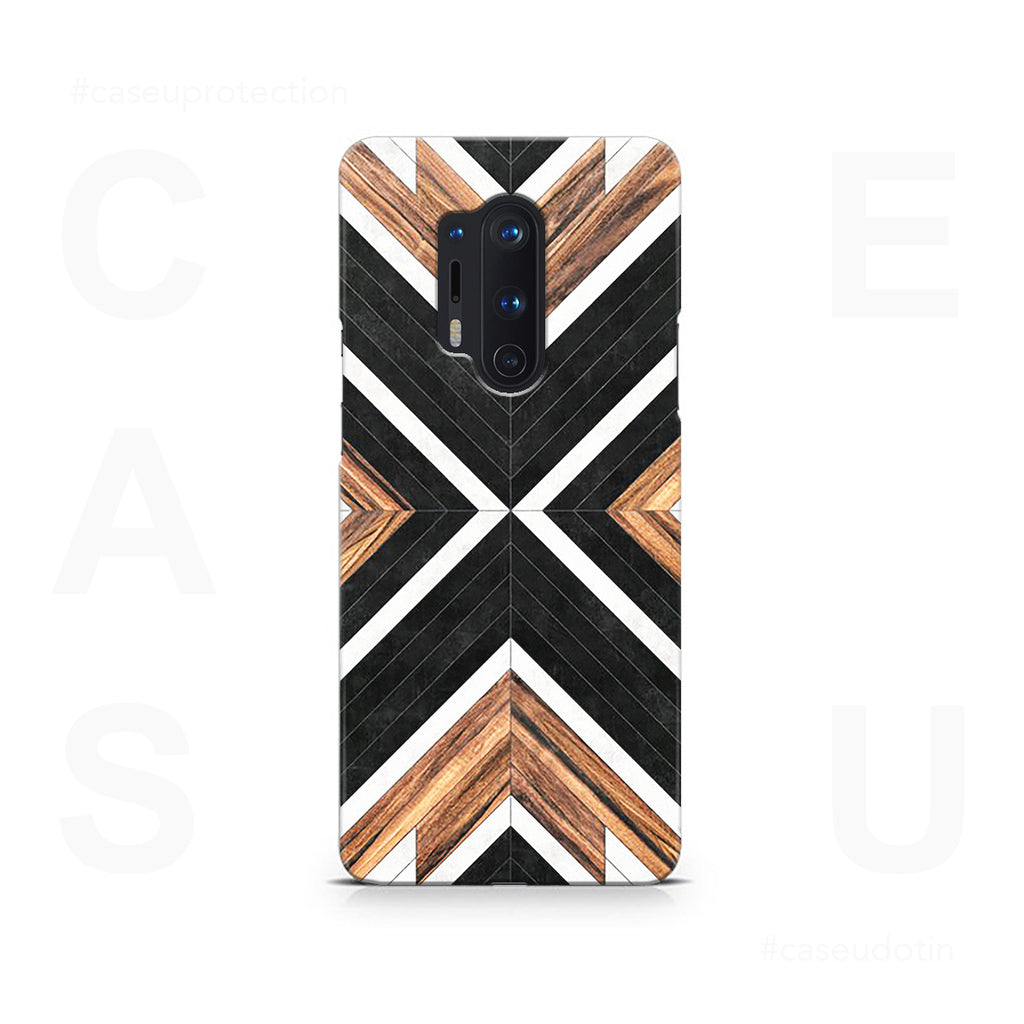 Geometric Wood Art Case Cover - OnePlus 8 Pro